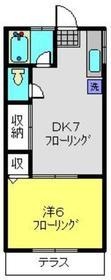 ハイツ秋山1階Fの間取り画像