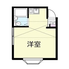 ベルエアⅡ2階Fの間取り画像