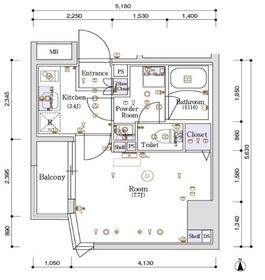 スカイコートグランデ木場4階Fの間取り画像