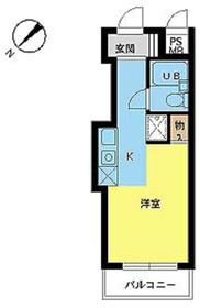 スカイコート世田谷用賀6階Fの間取り画像