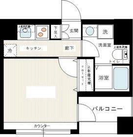 レグラス横浜西口2階Fの間取り画像