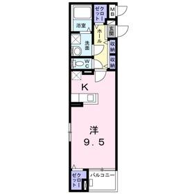 コージープレイス4階Fの間取り画像