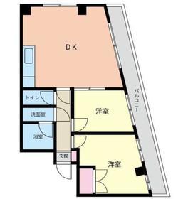 本厚木駅 徒歩7分2階Fの間取り画像
