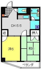 木曽屋第3ビル5階Fの間取り画像