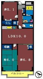 グラースマロニエ5階Fの間取り画像
