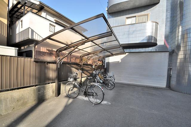 ラ・フォーレ大蓮 あなたの大事な自転車も安心してとめることができますね。