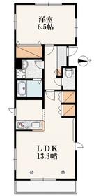 パルメゾン2階Fの間取り画像