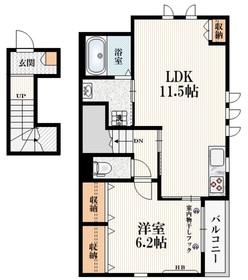 花小金井駅 徒歩11分2階Fの間取り画像