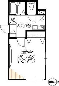 ローズ山王2階Fの間取り画像
