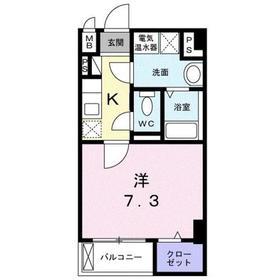ソフトリーサンリット・ヒロ2階Fの間取り画像
