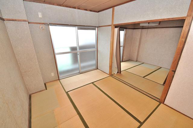第二コーポ春日荘 6帖の和室が2間あるので、とてもゆったりとしていますよ。