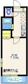 J-FLAT2階Fの間取り画像