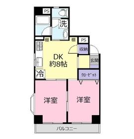 ウイング上福岡4階Fの間取り画像
