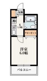 ダイカンプラザシティⅠ2階Fの間取り画像