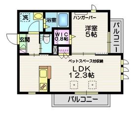 ホーミィ大井町 ペット共生3階Fの間取り画像