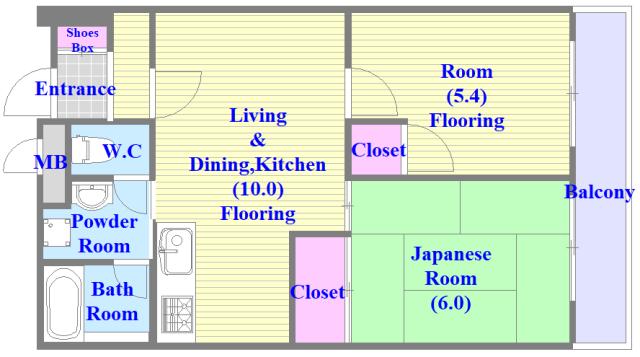 コートドールタツミ 和室のあるゆったりした間取です。一度ご覧ください。