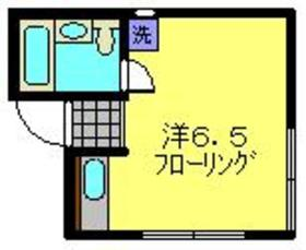 シーハイム2階Fの間取り画像