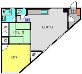 宮元町第一分譲共同ビル5階Fの間取り画像