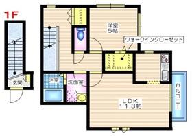 カーサ西戸部1-2階Fの間取り画像