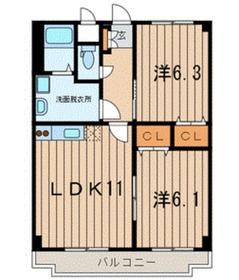 クレスタート23階Fの間取り画像