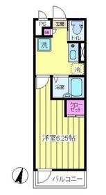 ファミーユ入江3階Fの間取り画像