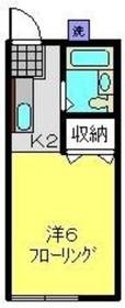 アバンス常盤台21階Fの間取り画像