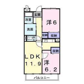 エレガンツァB3階Fの間取り画像
