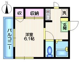 カーサ富ヶ谷2階Fの間取り画像