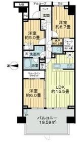 グランドメゾン狛江1階Fの間取り画像