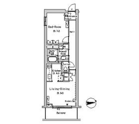 ルフォンプログレ南麻布4階Fの間取り画像