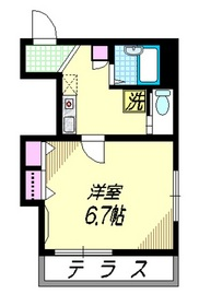 Casa Placiente1階Fの間取り画像