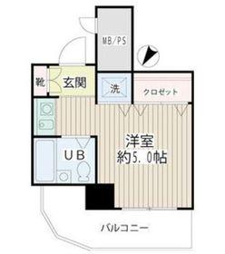 ネオマイム新子安弐番館9階Fの間取り画像