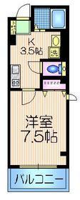 クレセントハウス3階Fの間取り画像