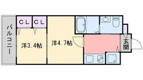 F・PARC西新11階Fの間取り画像