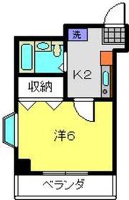 日吉堂ビル4階Fの間取り画像