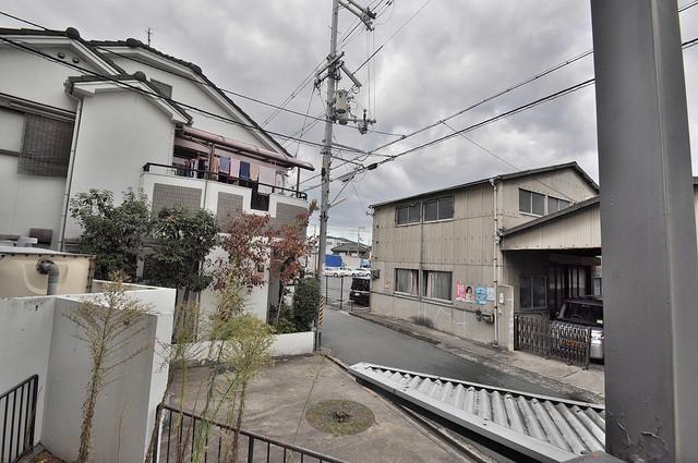 新星ビル上小阪 この見晴らしが日当たりのイイお部屋を作ってます。