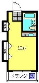 コア六角橋3階Fの間取り画像