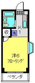 ドゥエル甲斐3階Fの間取り画像
