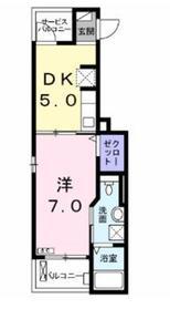 オマージュ1階Fの間取り画像