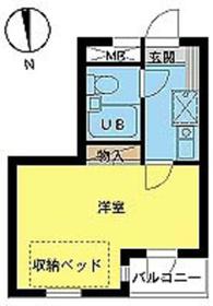 スカイコート新宿第51階Fの間取り画像