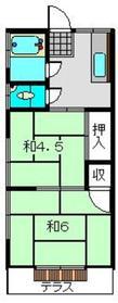 横溝荘1階Fの間取り画像
