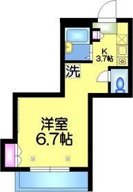 ジョインM2階Fの間取り画像