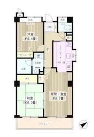 メルベーユ横浜子安5階Fの間取り画像