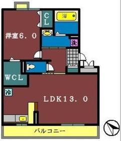 クレソン3階Fの間取り画像