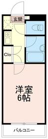 クレールマンション1階Fの間取り画像