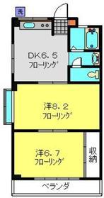 第1藤ハウス3階Fの間取り画像