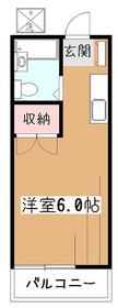 橋本ハイツ2階Fの間取り画像