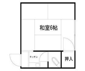 高円寺フラッツB棟1階Fの間取り画像