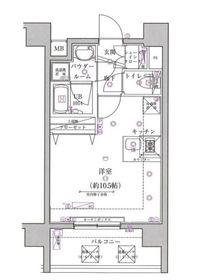 スパシエベルタ横浜8階Fの間取り画像