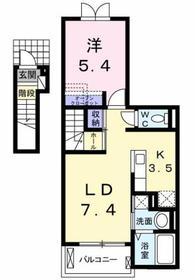 東大和市駅 徒歩22分2階Fの間取り画像